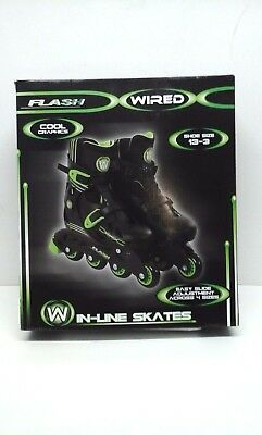 Flash Wired In-Line Skates - Adjustment Across 4 Sizes - New in box