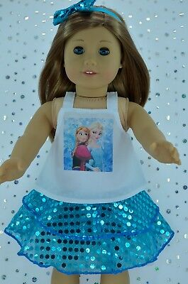 """Doll Clothes for 18""""American Girl~Our Generation~Journey SEQUIN SKIRT~TOP~H/BAND"""