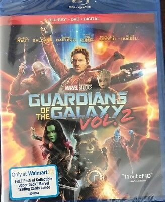 Guardians Of The Galaxy Vol.2(Blu-Ray+Digital Hd)Walmart Exclusive Cards