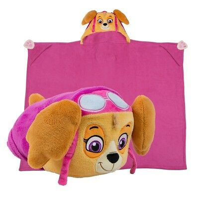 Paw Patrol Stuffed Animal Plush Blanket Skye Kids Toddler Girl Gift Dog New