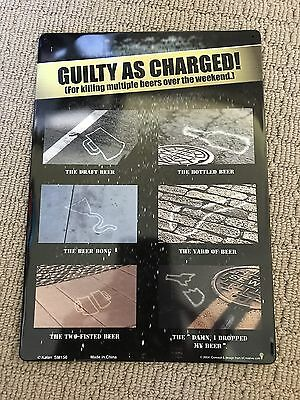 GUILTY AS CHARGED...Metal Wall Hanging