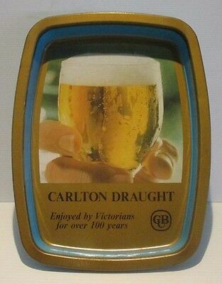 Carlton Draught CUB Beer full metal drinks pub tray for home bar or collector