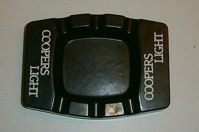 Coopers Light Beer retro plastic cigarette ashtray for home bar pub or collector