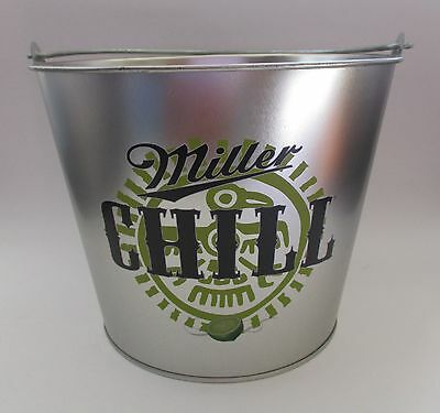 Miller Chill Beer brand new full metal ice can bottle drink bucket with handle