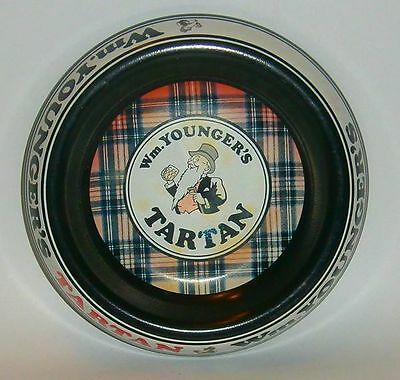 W.M Youngers Tartan full metal style cigarette ashtray for home bar or collector