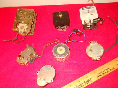 Lot Of 6 Vintage Misc. Electric Clock Motors ,tested