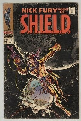 Nick Fury, Agent of S.H.I.E.L.D #6 November 1968 VG- Classic Steranko cover