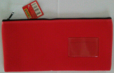 Osmer Pencil Case Red Neoprene with name insert 340 x 170 mm  LOT 24