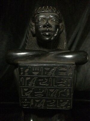 EGYPTIAN PHARAOHS ANTIQUITIES Block STATUE Teti EGYPT Basalt STONE 479-1425 BC