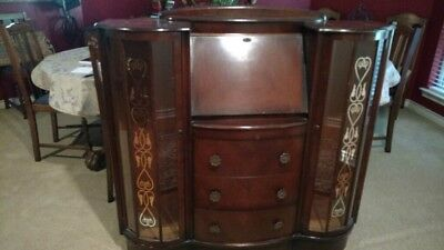 Art Deco Side by Side Secretary Bookcase / Curio