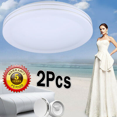 15.7 Inch LED Flush Mount Ceiling Light Round 24W Home Lighting Lamp Dimmable US