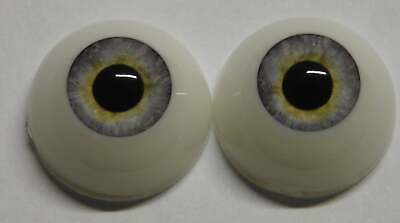 20mm Whispy Grey Round Acrylic Eyes Reborn Baby Doll Making Supplies