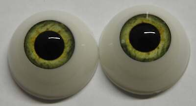 Reborn Baby Round Acrylic Eyes 24mm Pistachio Green Doll Making Supplies