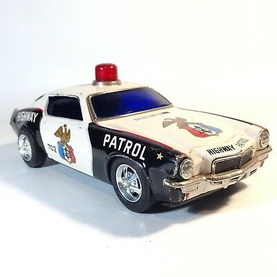 Vintage Japanese Tin Toy Car TAITO Highway Patrol Camero