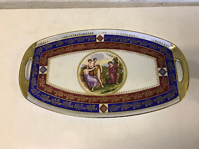 Vintage Possibly Antique Czech or Austrian Porcelain Tray Angelica Kauffman Dec.