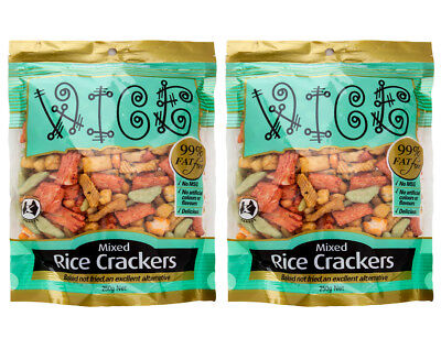 2 x Wice Crackers Mixed Rice Nibbles 250g