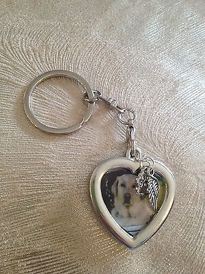 Pet Memorial Keepsake Photo Key Ring - Pet Loss Sympathy Bereavement Gift