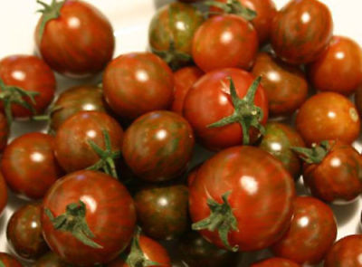 Vegetable Tomato Black Zebra Cherry 75 Finest Seeds #4324
