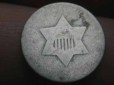 1851-1853 Three 3 Cent Silver Trime