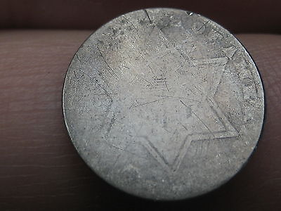 1854-1858 Three 3 Cent Silver Trime- Heavily Worn, Lowball
