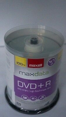 MAXELL Max Data 100 Pack RW DVD+R 16x 4.7 GB 120 Min Brand NEW Factory Sealed