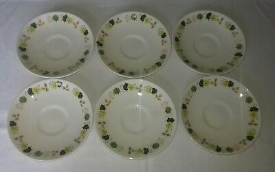 Arklow Pottery Ireland Studio Kraft Saucers x6