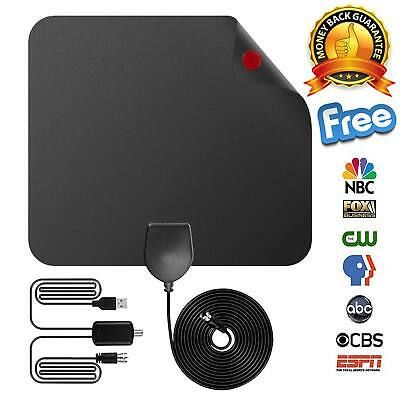 2018 NEW Digital HDTV Indoor TV Antenna Amplified 75 Mile 4K HD VHF UHF Freeview