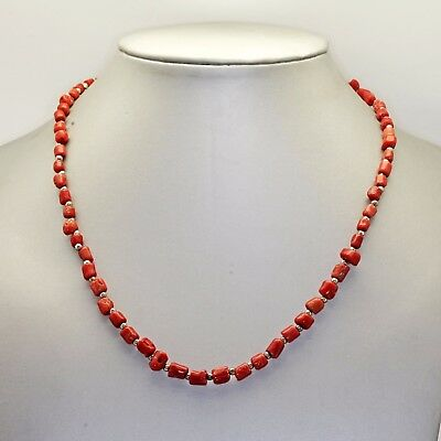 No. 17, necklace RED CORAL natural, 19 gr, non tinted, BEAUTIFUL