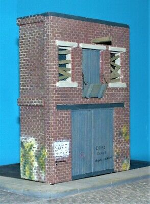 1/35 Factory/Warehouse Facade WW2, Modern or Zombie Apocalypse Diorama Building
