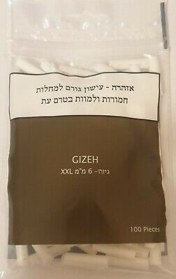 New Gizeh Cigarette XXL Filter Tips Closed Box Of 20 Bags 6/23mm Super Long Tips