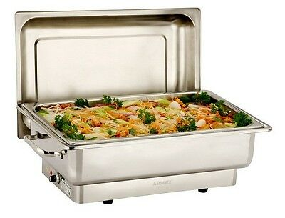 Sunnex Stainless Steel 1/1Gn Deluxe Electric Chafer Set 230V 13.5L