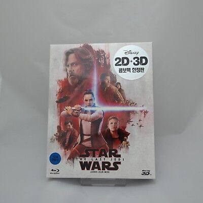 Star Wars: The Last Jedi (2018, Blu-ray) Full Slip Case Steelbook / 2D & 3D