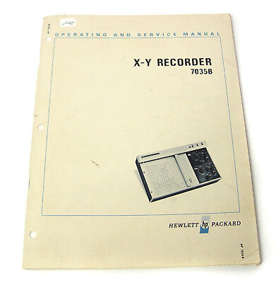 Manual Hewlett Packard HP 7035A XY-Recorder, Operating & Service