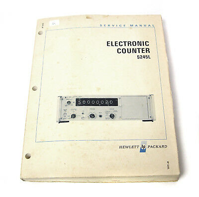 Service Manual Hewlett Packard HP 5245L Electronic Counter, Nixie-Frequenzzähler
