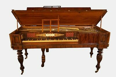 William Iv Mahogany Square Piano By Thomas Tomkison Of Dean Street, Soho London