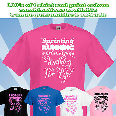 Walking For Life 2019 PERSONALISED Unisex Fit T Shirt walk race muddy run cancer