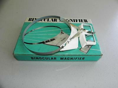 Rare Vintage Metal BINOCULAR MAGNIFIER 3X Japan still comes in Box