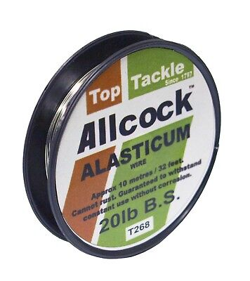 Allcock Alasticum Single Strand Wire Predator Pike 10 meter spools by Sure Catch