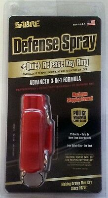 RED Sabre Red Keychain Pepper Spray Hard Case Self Defense Protection