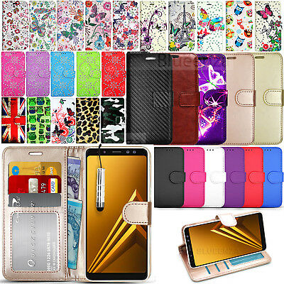For Samsung Galaxy A8 SM-A530F Case Wallet Leather Cover Flip Book + Stylus
