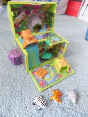 Vintage Pound Puppies Jungle playset (WITH FIGURES) (polly pocket style)