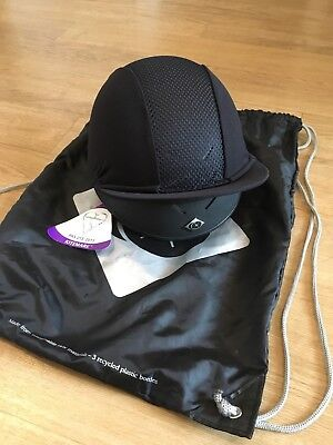 Charles Owen Pro Ii Black Riding Hat, New Kitemark Tags & Hat Bag,size 0 1/2 /54
