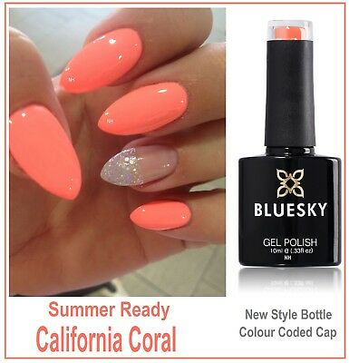 Bluesky Gel California Coral Spring Summer Most Wanted shade Free 1st Cl Postage