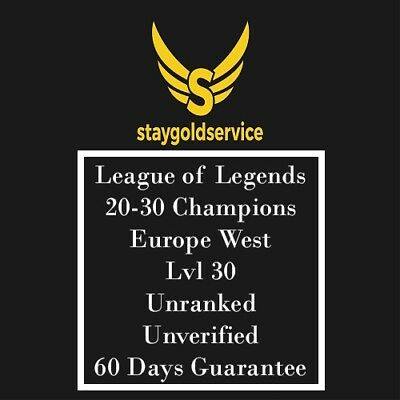 LoL Account League of Legends  | EUW | Level 30 | 20-30 Champions |  Unranked