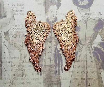 Large Rose Gold Ox Brass Butterfly 1 RGFFA9074