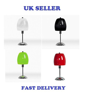Beautiful New Umbrella Art Deco Style Table Lamp Glass Chrome Various Colours