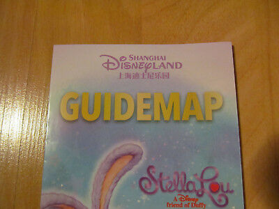 New Disneyland Guide Map Shanghai for March 2018