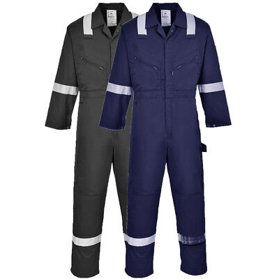 Portwest Iona Coverall Overall Reflective Knee Pad Pockets Work Safety F813