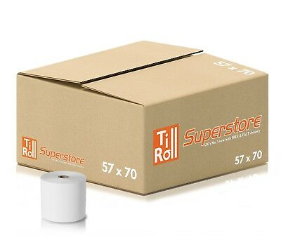 20 Rolls 57x70 Thermal Paper Till Rolls For PayPoint One Terminal FAST N FREE
