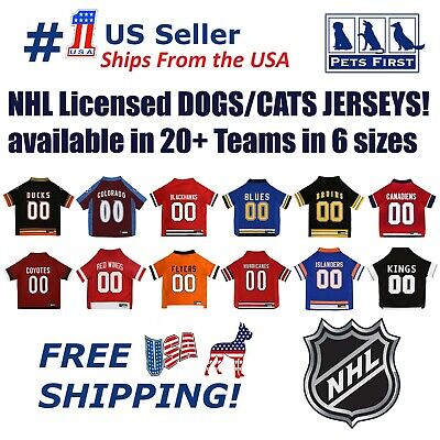 NHL Pet Jersey - NEW! Official NHL® Licensed! Authentic hockey DOG   CAT 7636daaa1